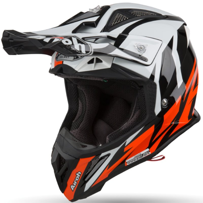 AIROH AVIATOR 2.3 AMS2  GREAT ORANGE GLOSS  HELMET